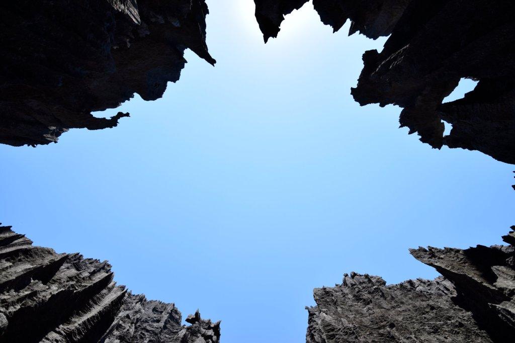 Blick nach oben in der Tsingy Schlucht